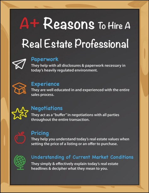 Want to Get an A? Hire A Real Estate Pro [INFOGRAPHIC] | MyKCM