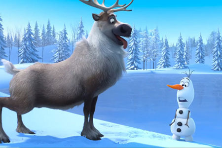Adorable Sven and Olaf