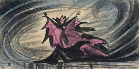 Artist Marc Davis' original character design for Maleficent