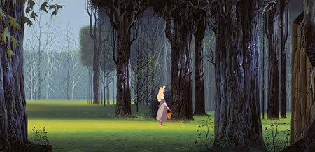 Ivan Earle, Disney's staff artist, created the look of the film