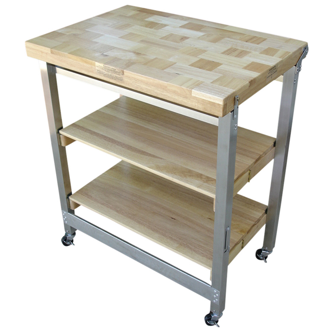 Folding Kitchen Cart Oasis Concepts Flip Fold