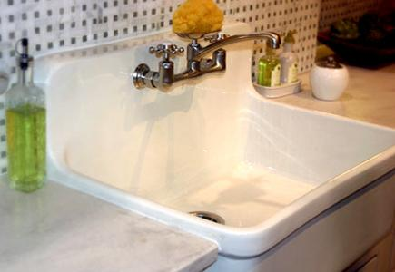 sinks faucets cast iron