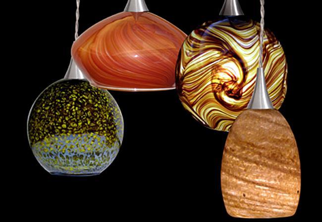cooper lighting halo art glass pendants