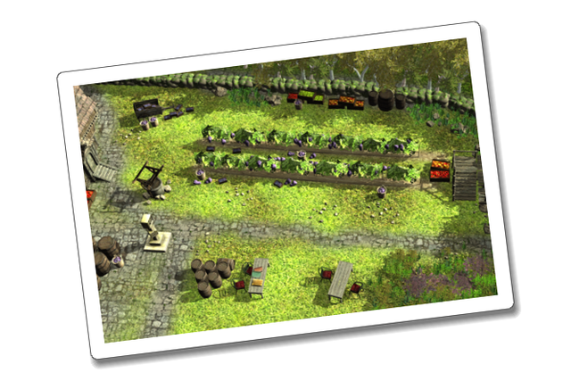 The game will be played from a top-down perspective, like the perspective shown in this image.