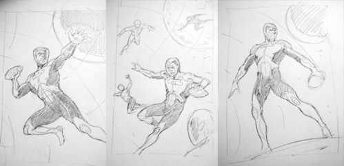 Preproduction sketches of FloatBall players by the FutureDude team.