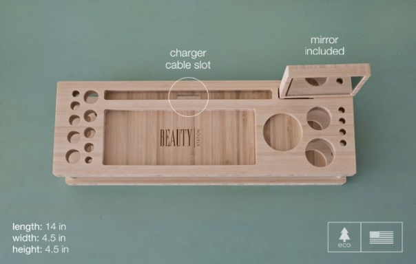 makeup organizer wood. an added techie-bonus is the charging dock where you can place your smartphone or digital tablet amongst all makeup. makeup organizer wood 8
