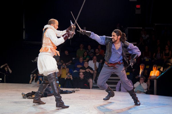 Shakespeare's Rebel book launch: Author vs Giant Spaniard