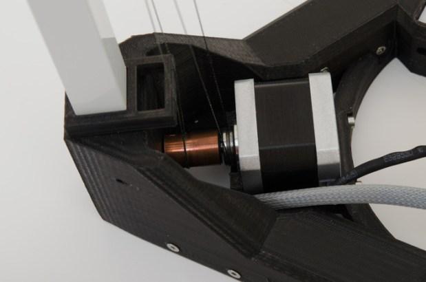Triple pulley system - Bottom Corner