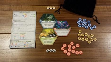 Game setup for two players.