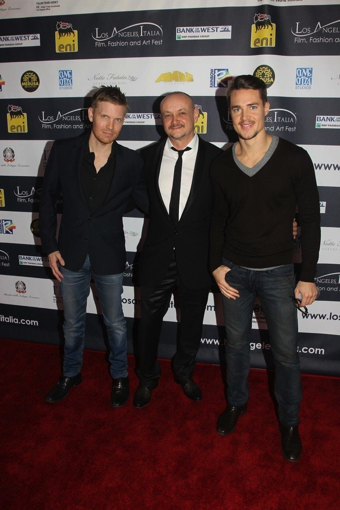 "Hunter Lee Hughes, Marco Puccioni, Alexander Dreymon at ""Like the Wind"" screening"