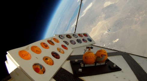 Student Experiment at the edge of space.