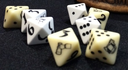 16MM 8-Sided Drinking Dice with Pips and Numbers