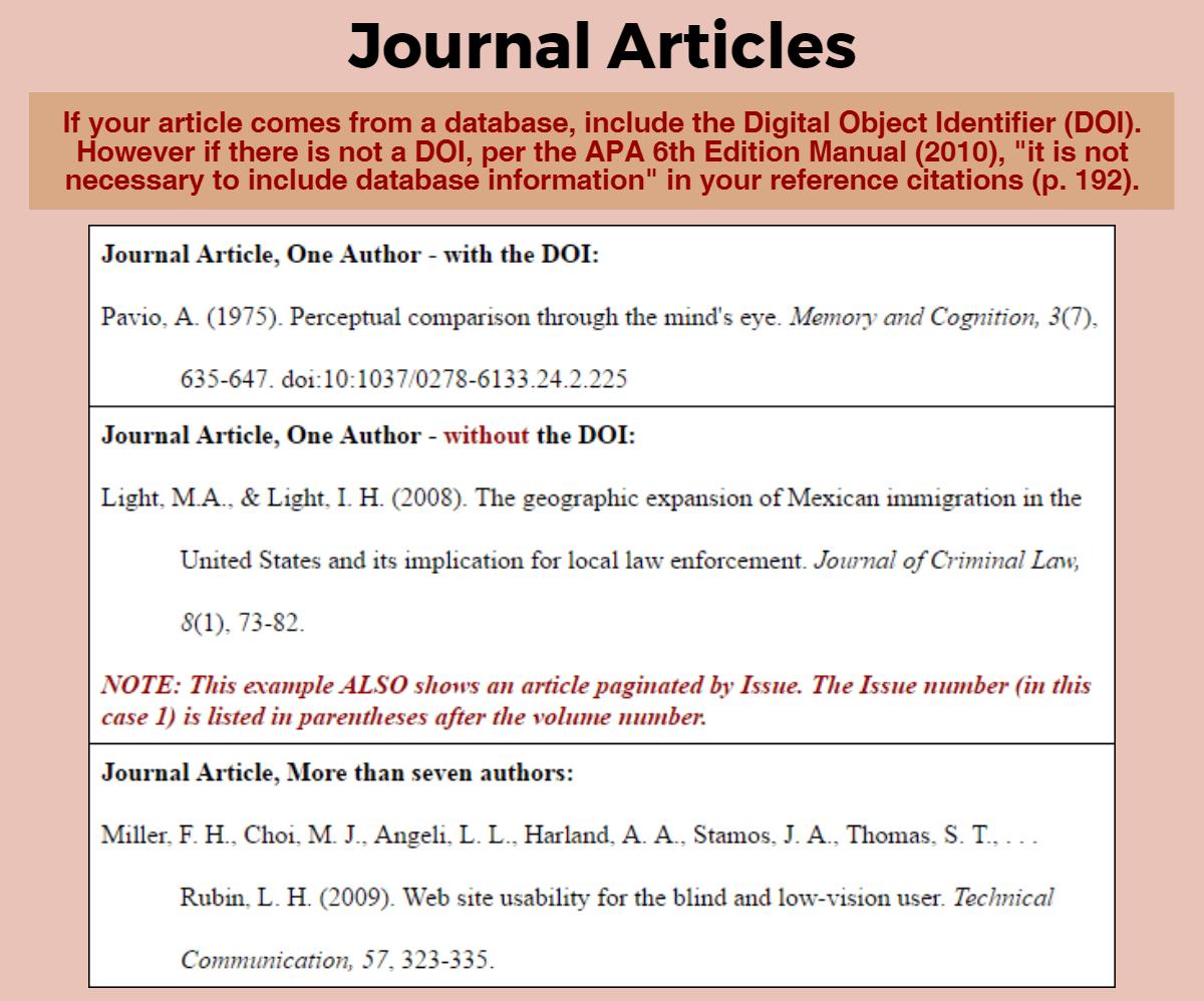 Apa Format Reference Citation Example Blackbackpub