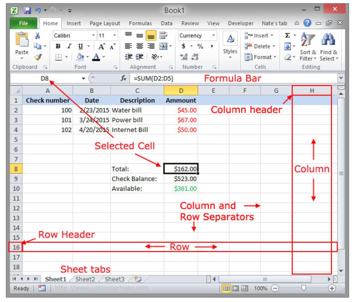 Excel Basicsyzing The Data
