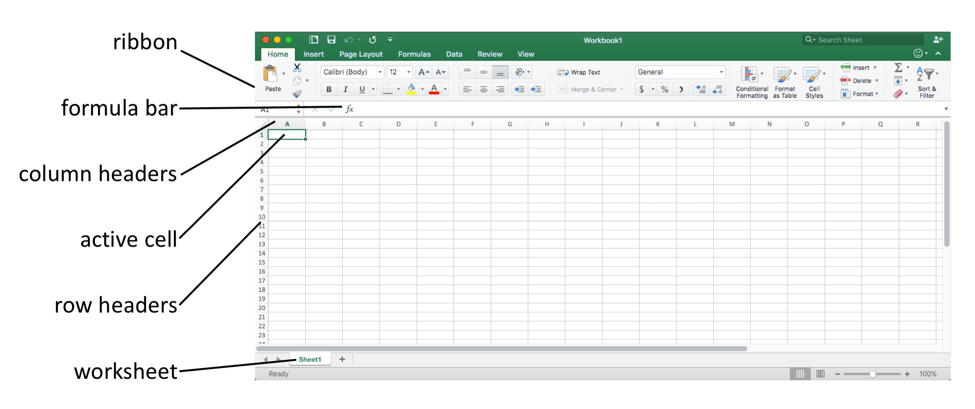 Excel Worksheet Border