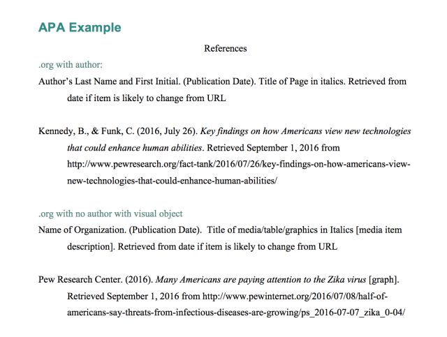 Explanation & Example - APA: Webpage in a Website with Corporate
