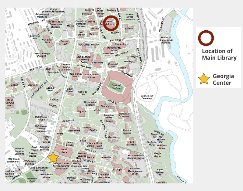 Uga Campus Map Numbers
