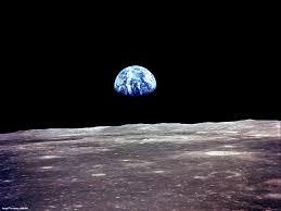 Earth from lunar orbit
