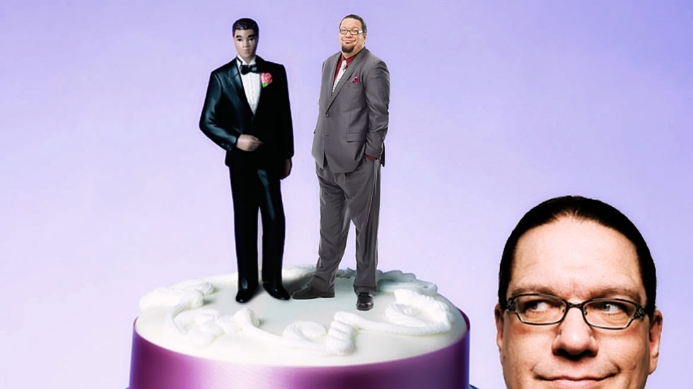 Penn Jillette Can't Have His Gay Wedding Cake and Eat It Too