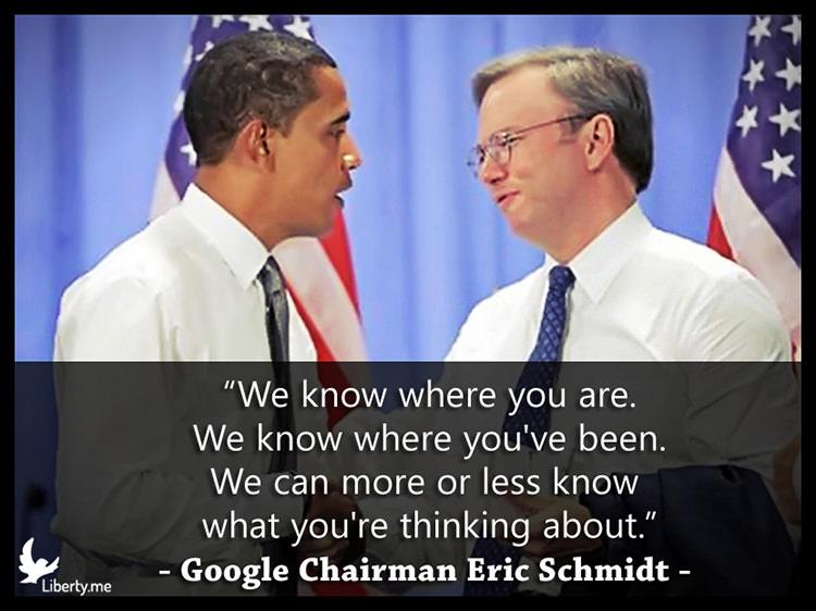 Google Eric Schmidt mass surveillance