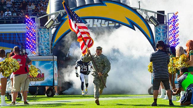 military flag run