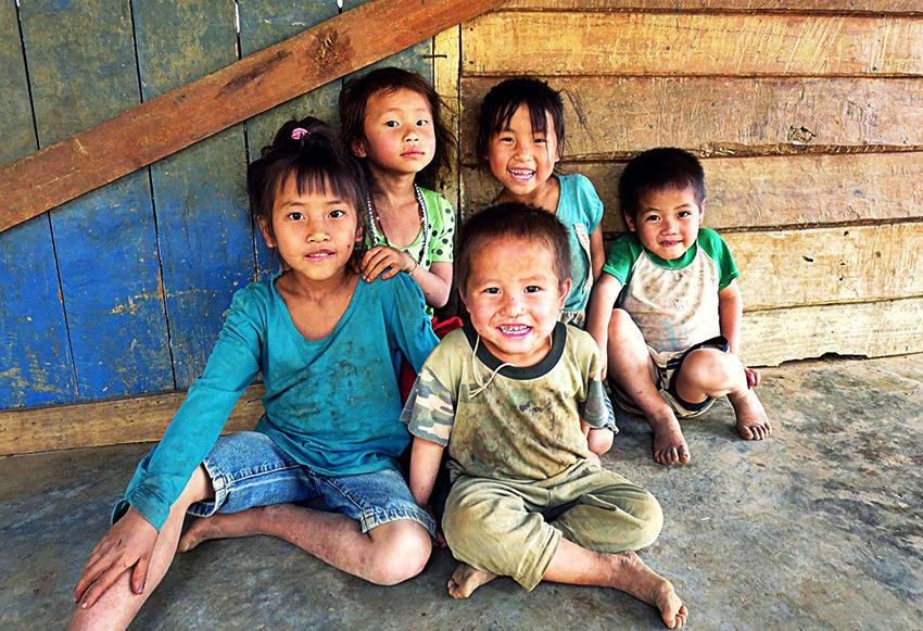 Hmong villagers, Laos