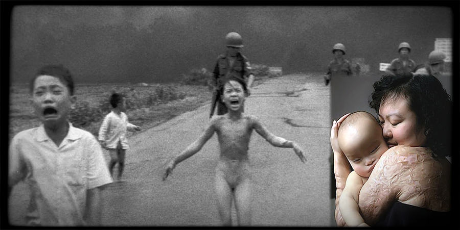 """Napalm is the most terrible pain you can imagine. Water boils at 100 degrees Celsius (212°F). Napalm generates temperatures of 800 to 1,200 degrees Celsius (1,500-2,200°F)."""