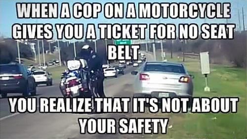 cop seatbelt ticket