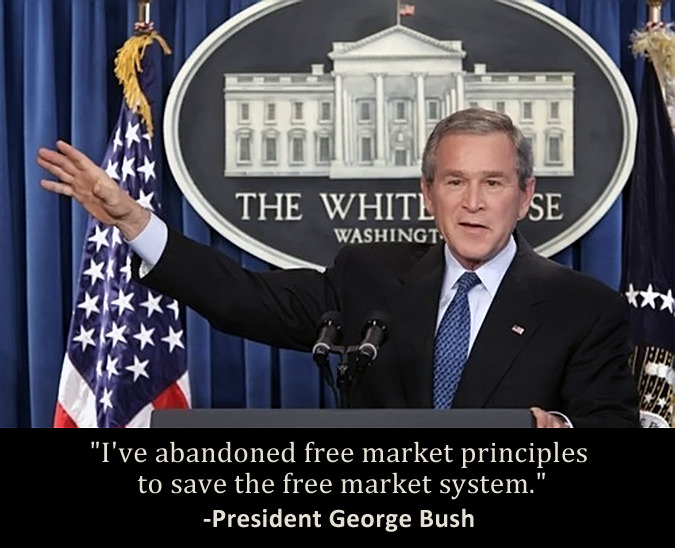 Fascism uses free market principles opportunistically and overrides them whenever it serves the regime