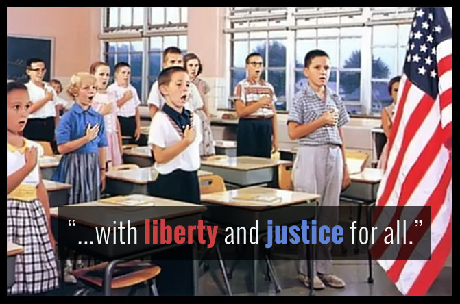 pledge of allegiance liberty and justice for all