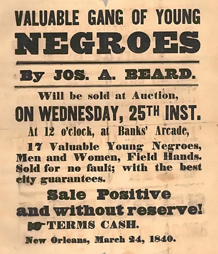 slave auction notice