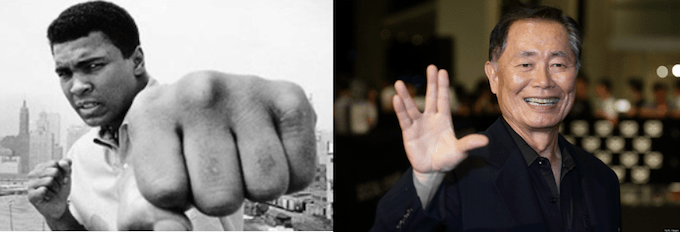 The Artful Practice vs. The Advocacy of Violence: A Juxtaposition Between Muhammad Ali and George Takei