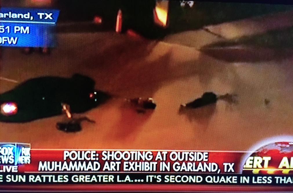"Fox News reports on Garland Shooting. Calls anti-lslamic cartoon contest ""Art Exhibit:"""