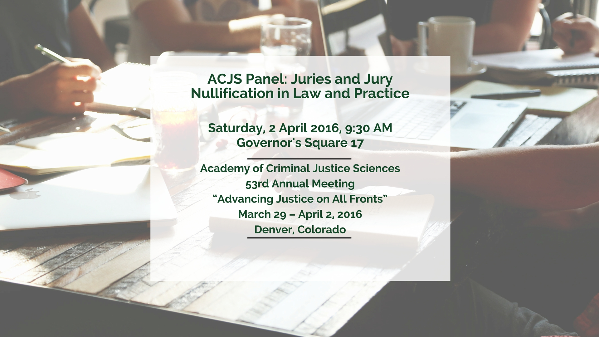 FIJA to Present on Jury Issues at ACJS Conference