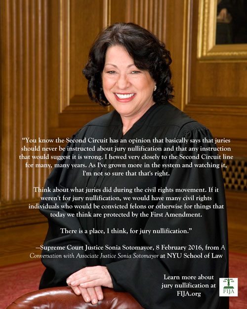 Sonia Sotomayor Jury Nullification Graphic