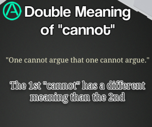 """The Double Meaning of """"Cannot"""""""
