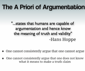 Clarifying Further What The A Priori of Argumentation Is