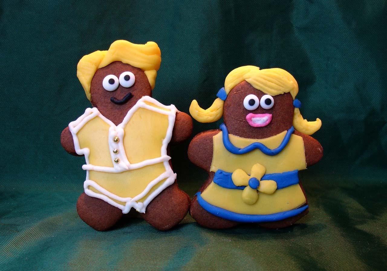 Happy gingerbread cookies