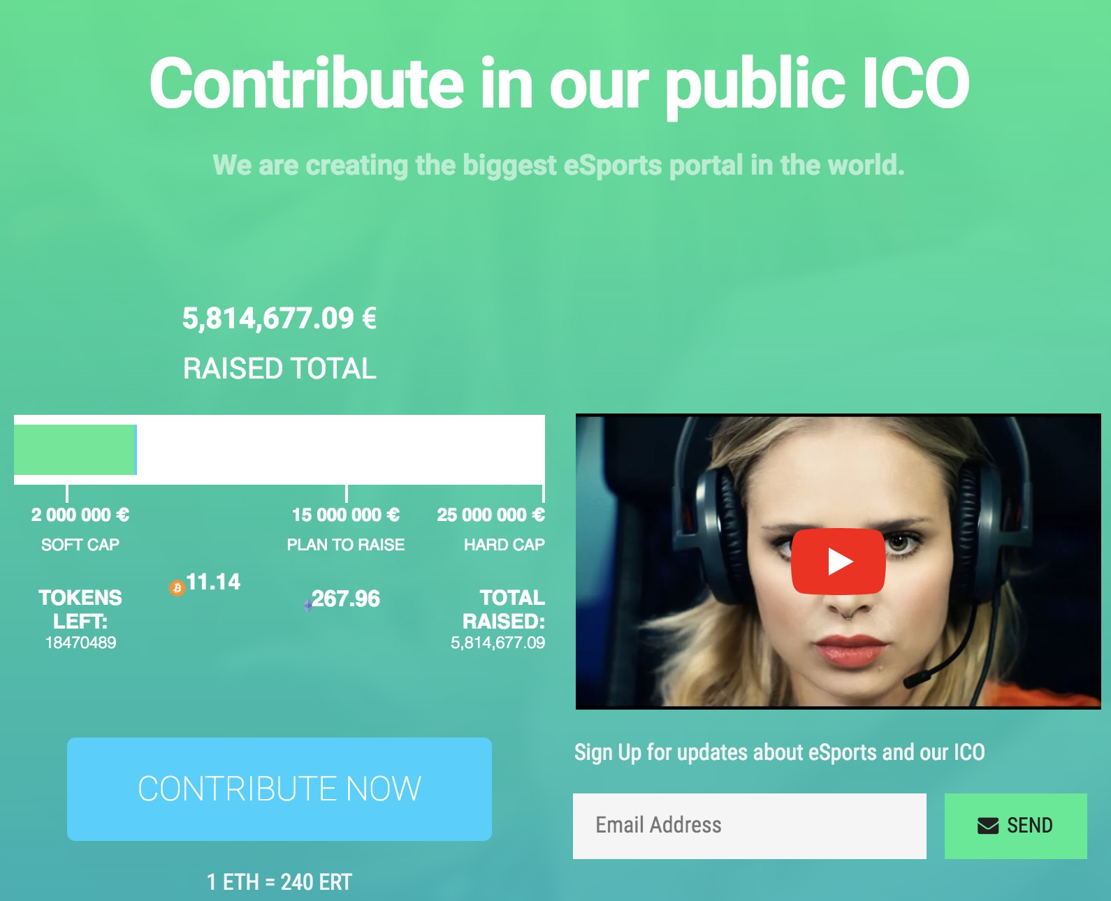 What is an ICO? Case study of eSports.com
