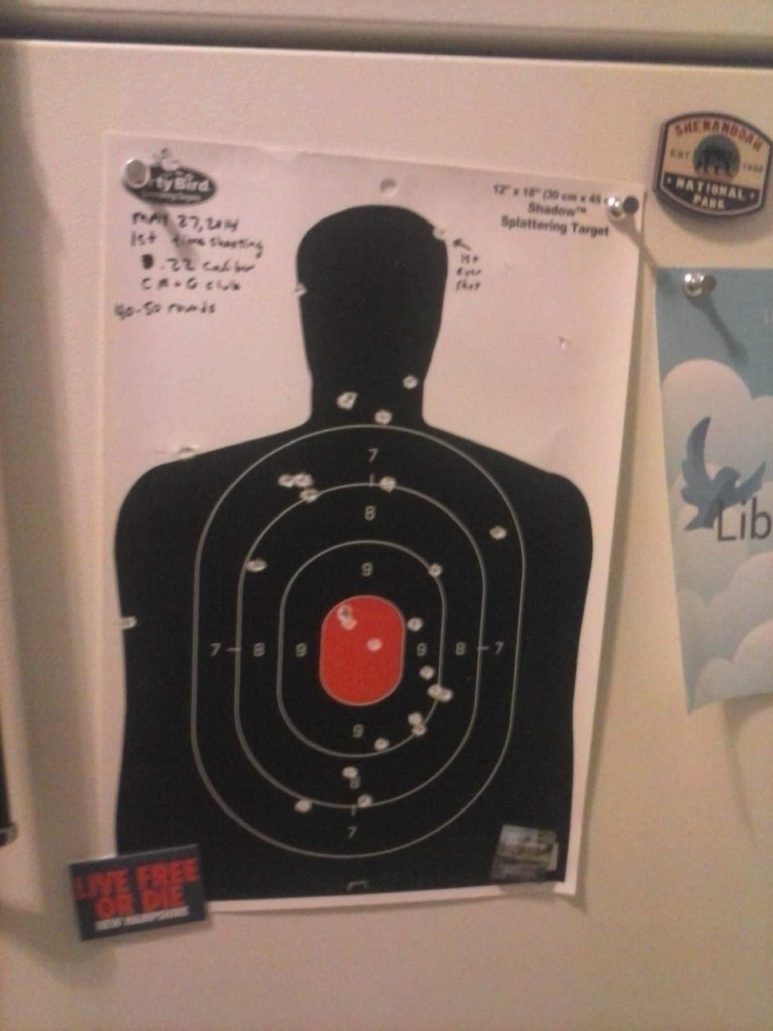 RICH SHOOTS GUN FOR FIRST TIME