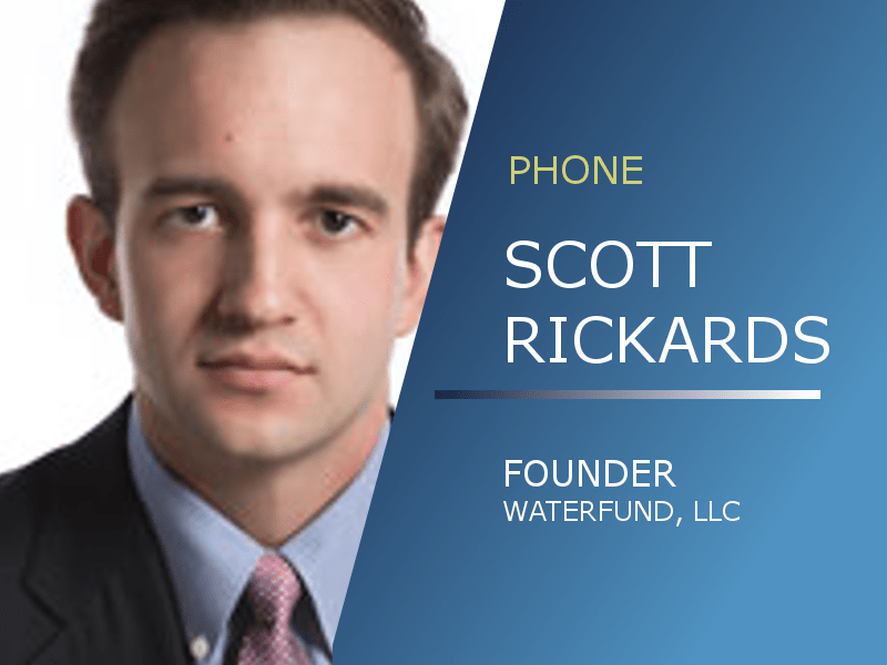 Scott Rickards | What Does Water Cost?