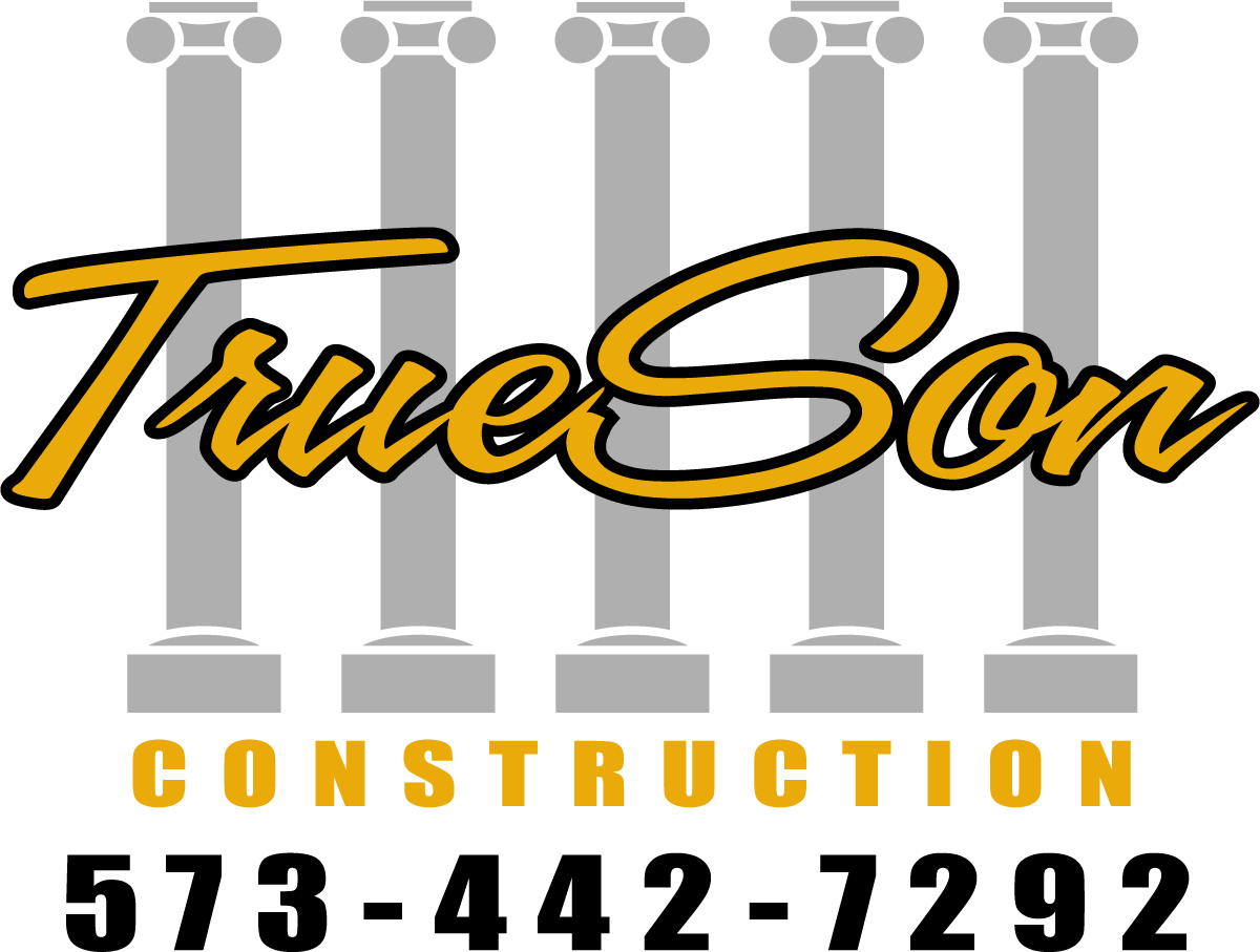 TrueSon Exteriors Construction logo with phone number