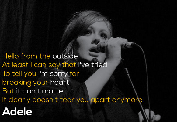 Adele Quotes The Best Lyrics And Lines From 19 21 And 25