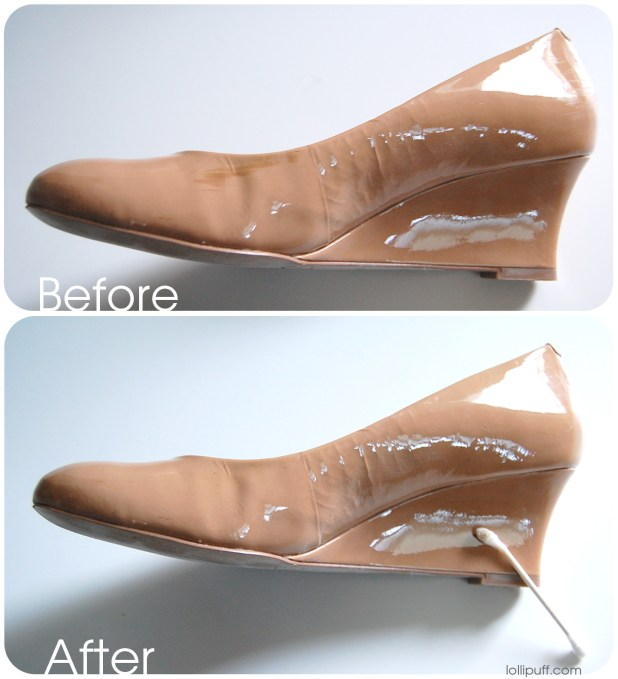 Leather Shoes Removing Polish