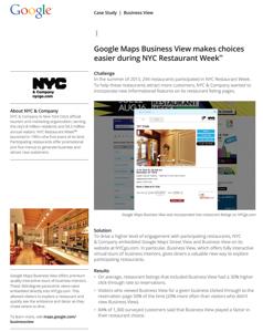 Restaurants Google Street View Tours