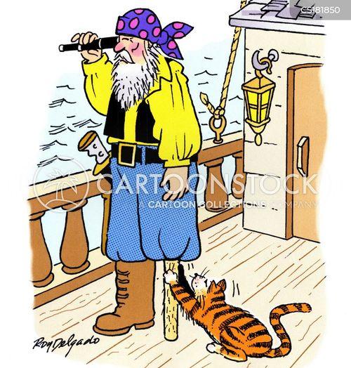 Cat Mischievous Cartoons