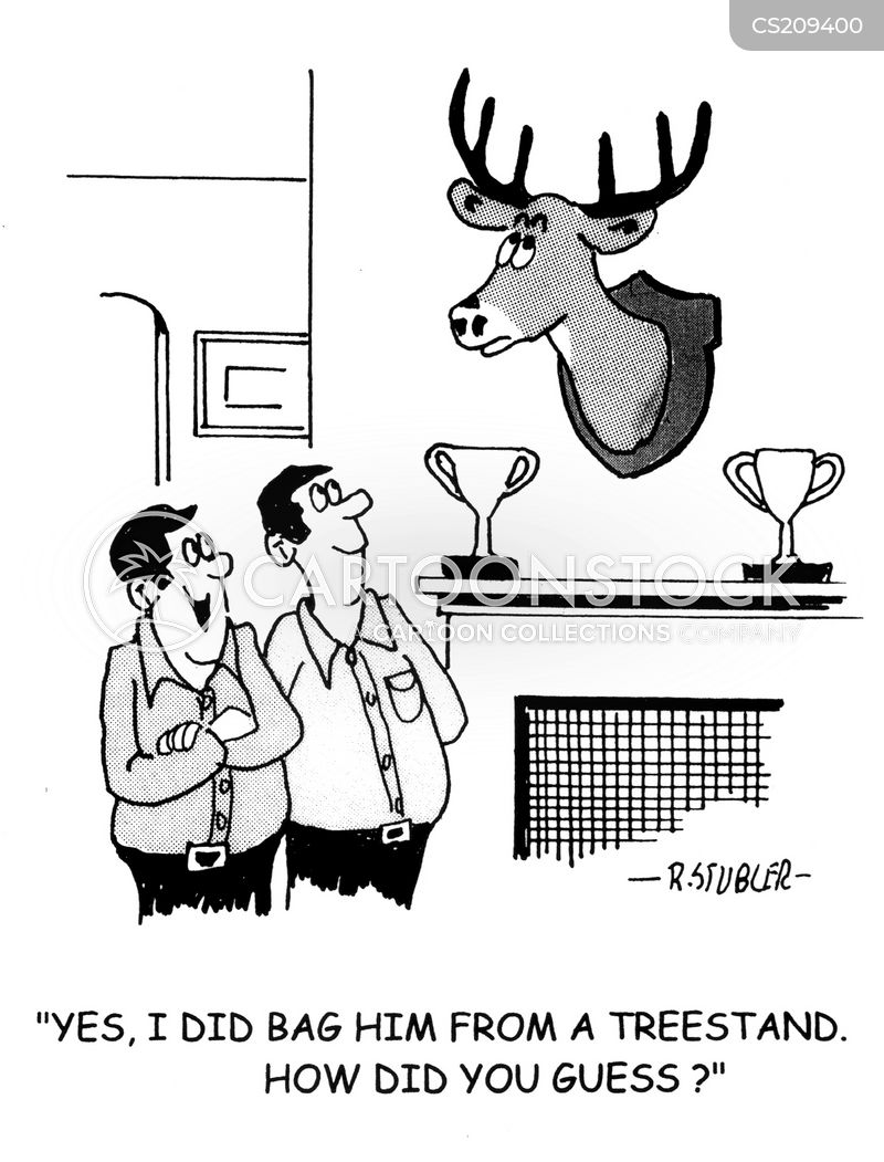 Hunting Tree Stands Cartoon