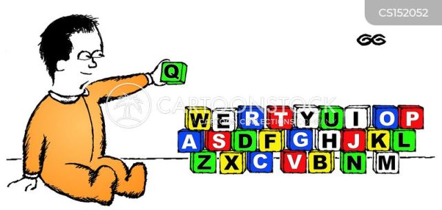Keyboard Qwerty cartoon
