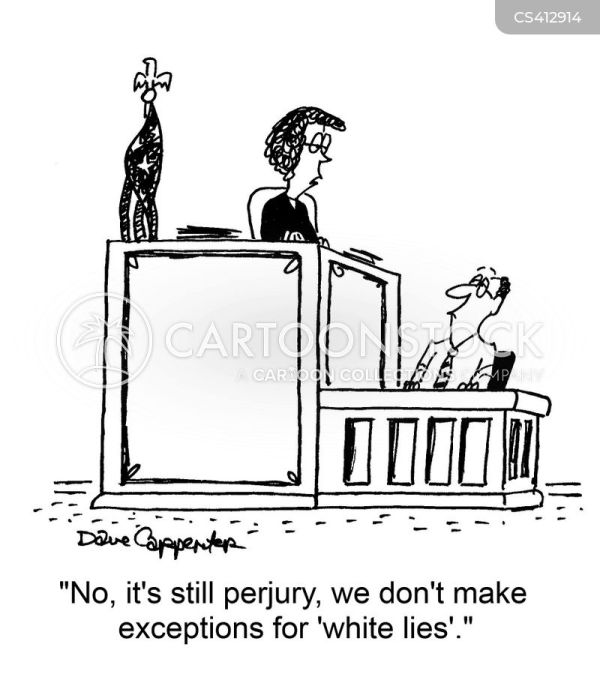 Witness Testimony Cartoons and Comics - funny pictures ...