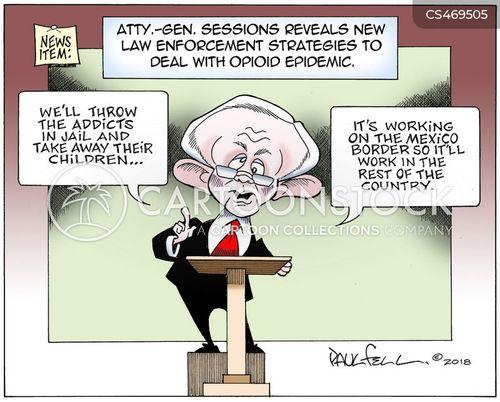 Drug Abuse News and Political Cartoons